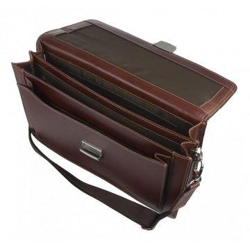 Купить мужской коричневый кожаный портфель в спб
