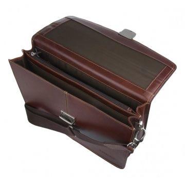 Портфель мужской из натуральной кожи коричневый купить