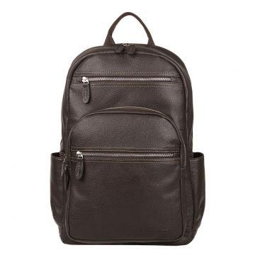 рюкзак мужской кожаный (коричневый)