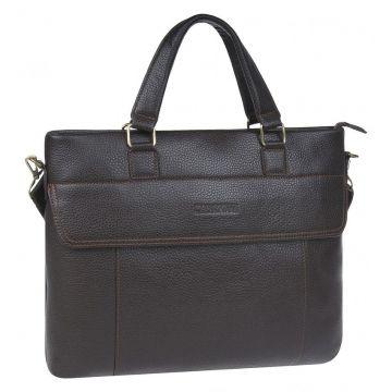 сумка мужская деловая из натуральной кожи (коричневая)
