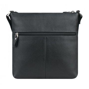 сумка-планшет мужская из натуральной кожи (чёрная)