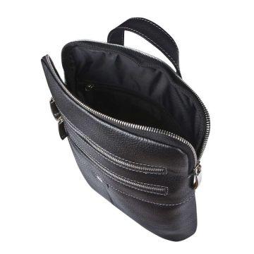 мужская сумка через плечо кожаная плоская