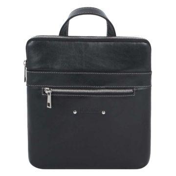мужская сумка через плечо из гладкой кожи