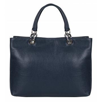 сумка женская из натуральной кожи (синяя) 1-3955к-008 океан