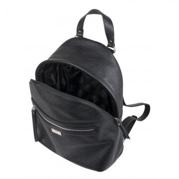 женский рюкзак для города кожаный (черный)