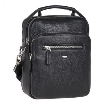 Мужская сумка через плечо кожаная с ручкой