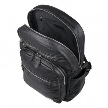 Рюкзак мужской кожаный (черный)