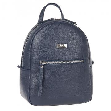 женский рюкзак для города кожаный (темно-синий)