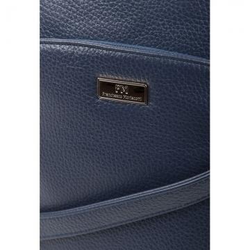 женская сумка кожаная через плечо (темно-синяя)