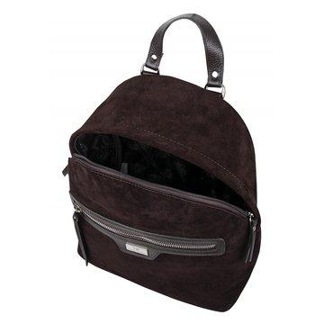 рюкзак женский замшевый (коричневый)