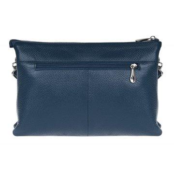 сумка женская из натуральной кожи (синяя)