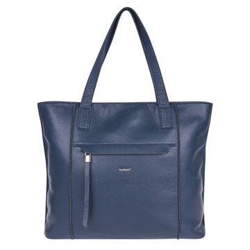 сумка женская кожаная среднего размера (синяя)