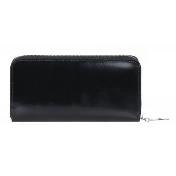 женский кошелек из натуральной кожи 0-752л чёрный