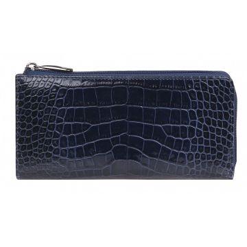 женский кошелек из натуральной кожи 0-729/1кайман т.синий