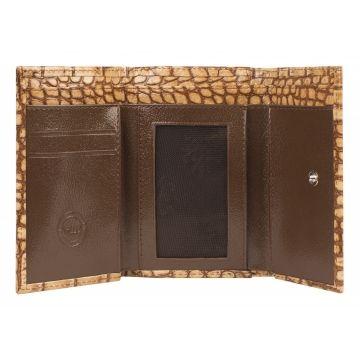 женский кошелёк из натуральной кожи 0-35/2 кайман бежевый