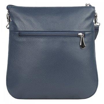 сумка женская кожаная через плечо (синяя)