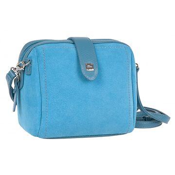 сумочка женская замшевая миниатюрная (голубая)
