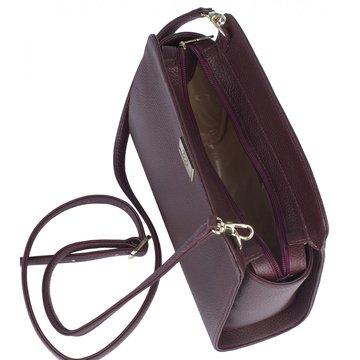 сумка женская из натуральной кожи (вишнёвая)