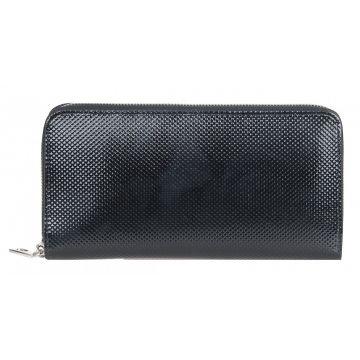 женский кожаный кошелек 0-752л плетёнка чёрный