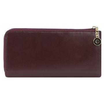 женский кожаный кошелек 0-729/1FM кл т.вишня