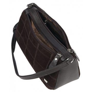 сумка женская натуральная замша 1-4422к замша корич