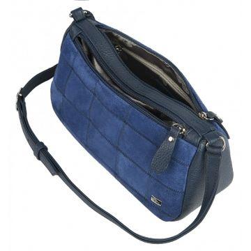 сумка женская натуральная замша 1-4422к замша синий