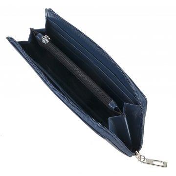 женский кожаный кошелек 0-729/1FM кл синий