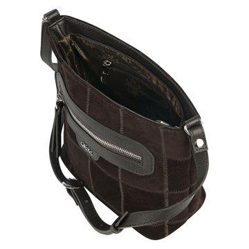 сумка женская натуральная замша 1-4400к замша корич