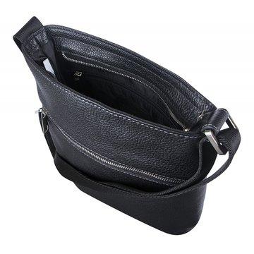 Мужская плоская сумка через плечо кожаная