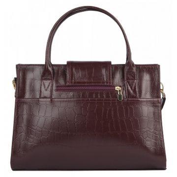 сумка женская из натуральной кожи 1-1994к-929 скат т.вишня