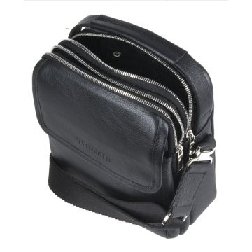 мужская кожаная сумка через плечо с клапаном