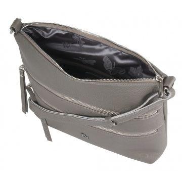 сумка женская из натуральной кожи 1-4110к-007 капучино