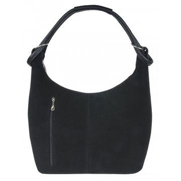 сумка женская натуральная замша 1-3661к замша чёрный