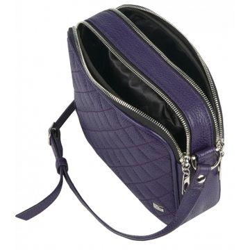 сумка женская через плечо из натуральной кожи (фиолетовая)