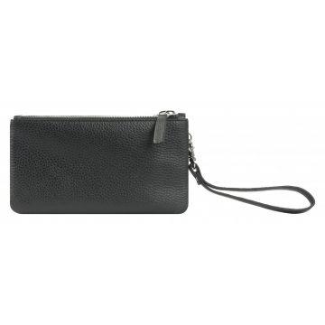 женский кожаный кошелек 0-757к-100 черный