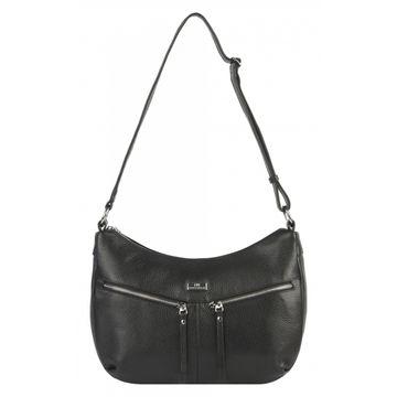 сумка женская кожаная (чёрная)