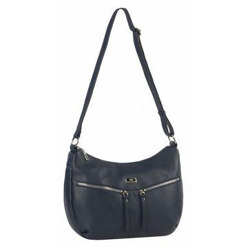 сумка женская кожаная (синяя)