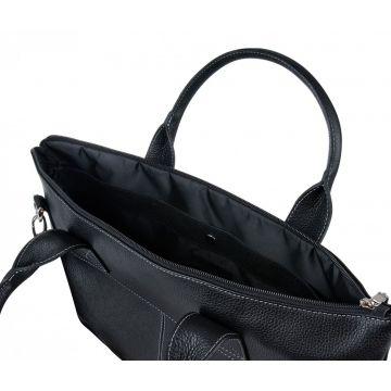 мужская деловая сумка портфель из натуральной кожи