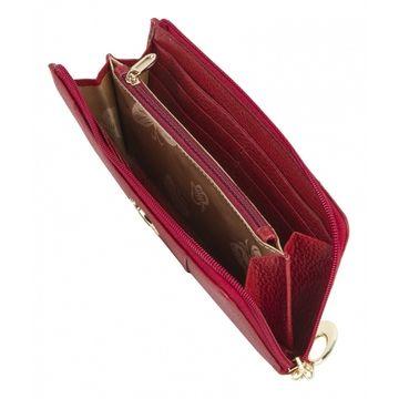 женский кошелек из натуральной кожи 0-739 фр гранат