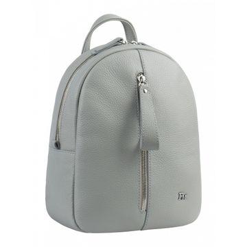 светлый женский рюкзак из натуральной кожи