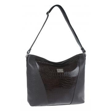 сумка женская кожаная (каштановая)