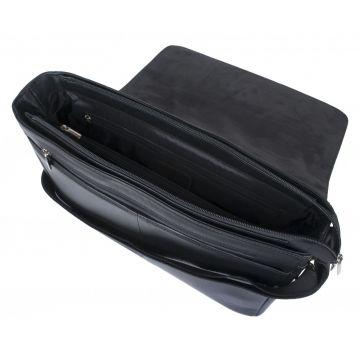 мужская горизонтальная сумка через плечо из кожи