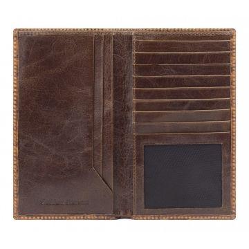 женский кошелек из натуральной кожи (коричневый) 0-234 FM кайман кор