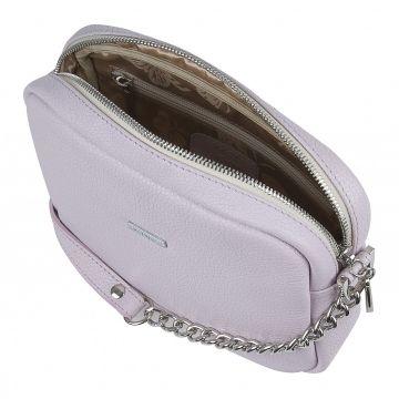 женская сумка из натуральной кожи (аметистовая)