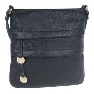 женская сумка из натуральной кожи (черная) 1-2612к-100 чёрный