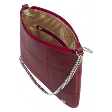 женская сумка из натуральной кожи (бордовая)