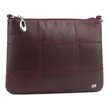 женская сумка из натуральной кожи (вишневая)