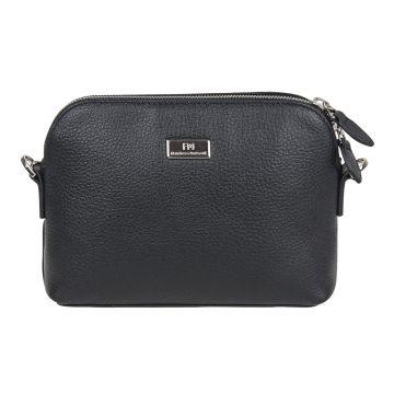 женская сумка из натуральной кожи (черная)