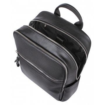 рюкзак мужской из натуральной кожи (черный)