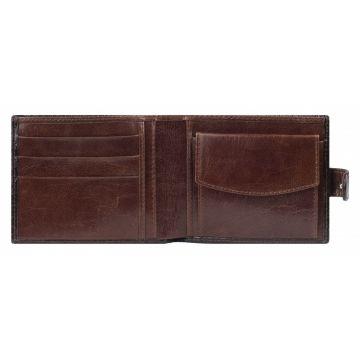 мужской кошелек кожаный (коричневый) 0-02 кайман кор.